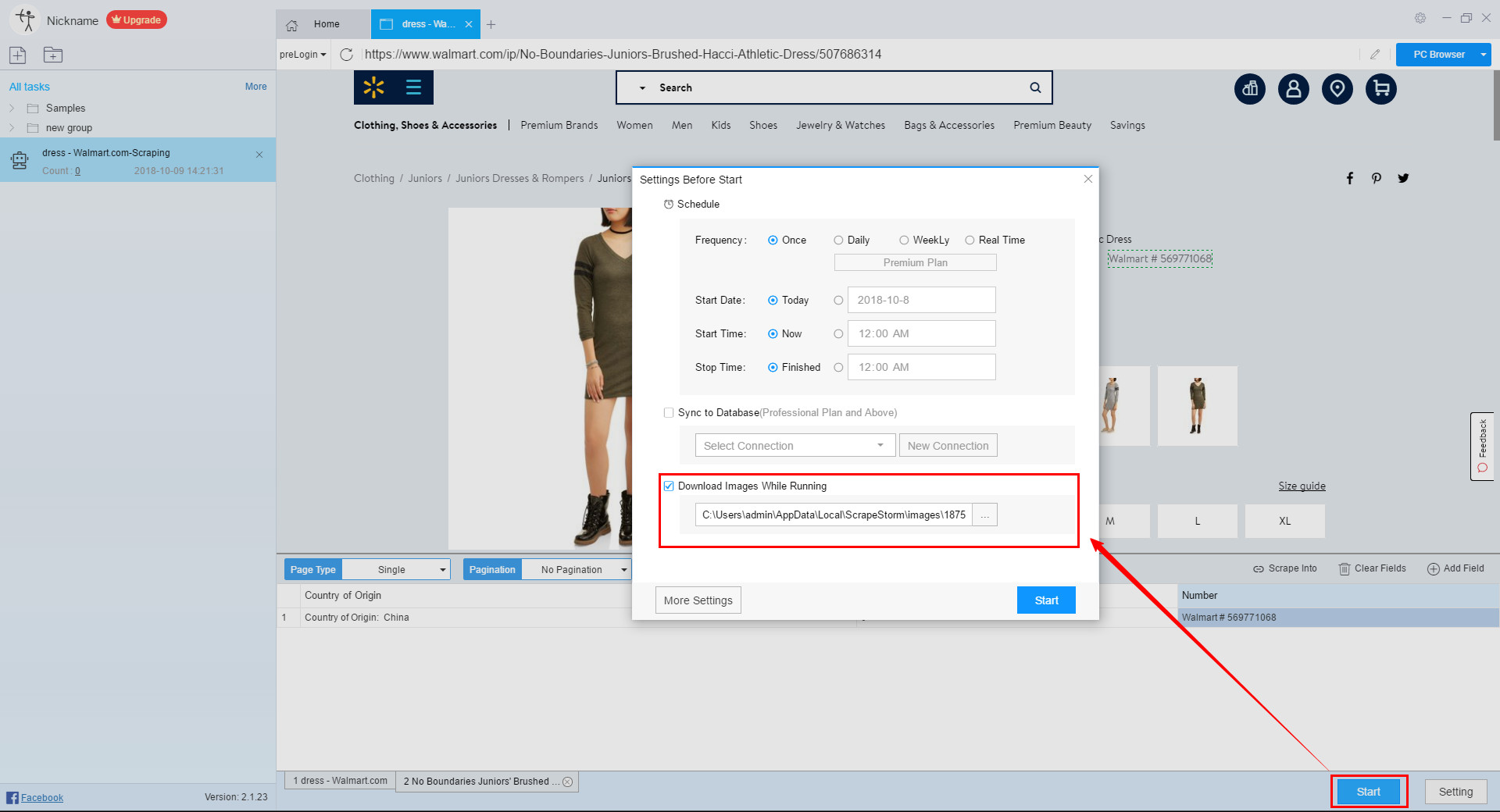 How to Scrape Dress Data from Walmart - Walmart Scraper