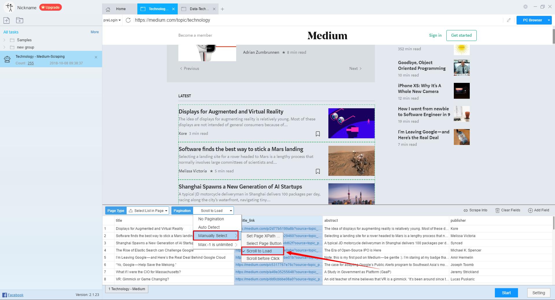 How to scrape Medium articles - Medium article scraper